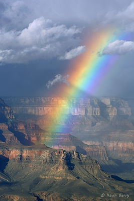 Rainbow over Grand Canyon National Park, Arizona