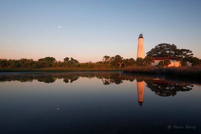 moonset, st. marks lighthouse, Florida, national wildlife refuge