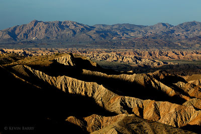 Borrego Badlands at sunset, Anza-Borrego Desert State Park, California