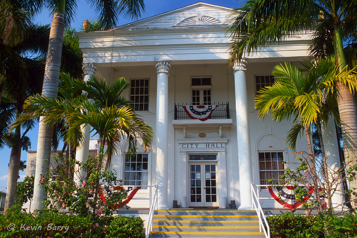 The Old Collier County Courthouse is a historic two-story concrete and stucco courthouse building located in Everglades City...