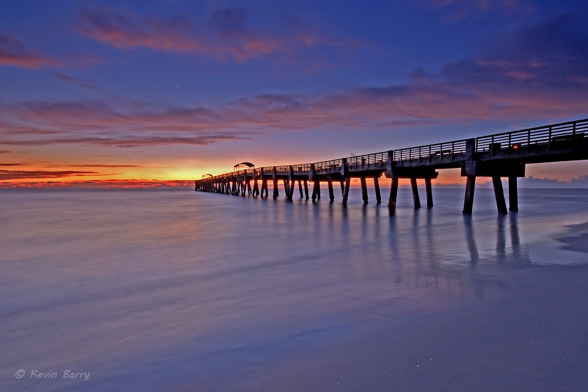 Lake Worth fishing pier at sunrise, Florida, photo