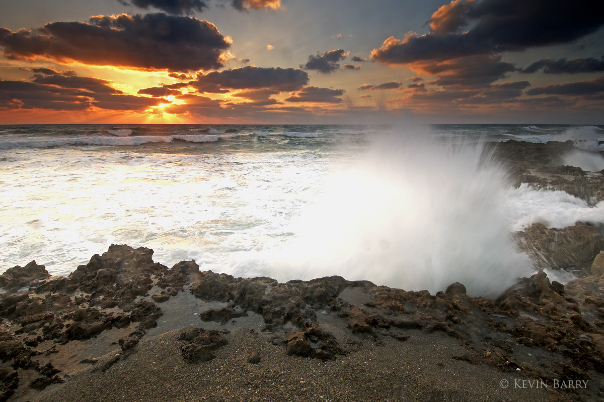 Blowing Rocks Preserve, Florida, A Rocky Start to the Day, photo