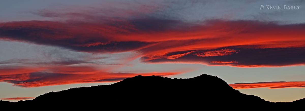 Mountains at Twilight, Trona, California, photo